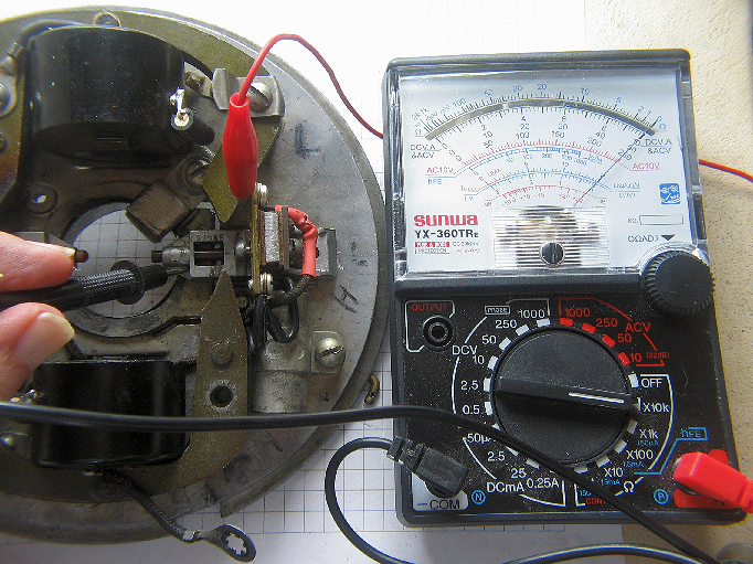 Testing an Outboard Coil with a Multimeter using an ignition